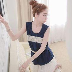 Tokyo Fashion - Lace-Trim Beaded Tank Top