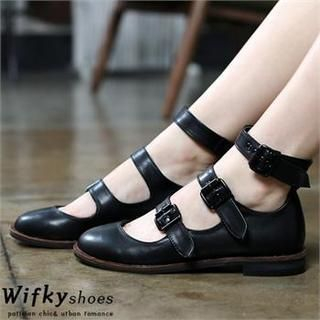 Wifky - Buckled Ankle-Strap Flats