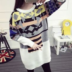 Loytio - Patterned Long Sweater