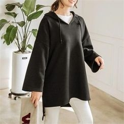 JOAMOM - Hooded Drop-Shoulder T-Shirt