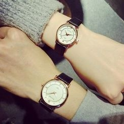Crystalfa - Couple Matching Strap Watch