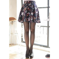 MyFiona - Flower Patterned A-Line Mini Skirt