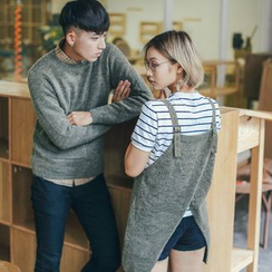 Simpair - Couple Matching Sweater / Knit Pinafore Tunic