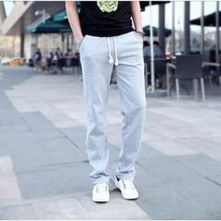 Danjieshi - Drawstring Cotton Pants
