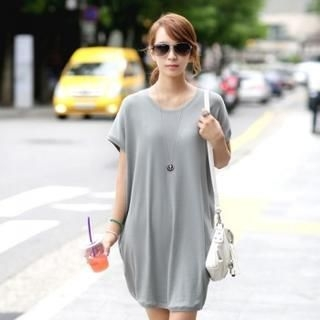Jcstyle - Batwing-Sleeve T-Shirt Dress