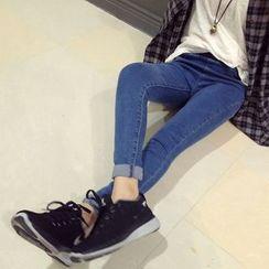 Denim Fever - High Waist Skinny Jeans