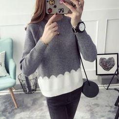 Qimi - 撞色毛衣
