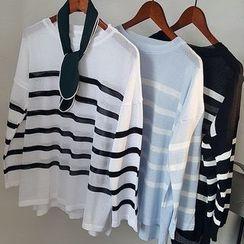 芷蓯夕 - 條紋針織上衣