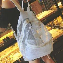 I.O.U - Set: Mesh Backpack + Zip Pouch