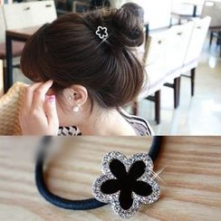Annamae - Rhinestone Flower Hair Tie