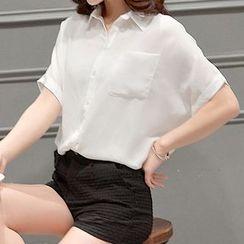 LunarS - Short Sleeve Chiffon Shirt