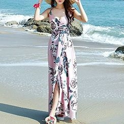 Isadora - Strappy Floral Maxi Sun Dress