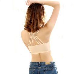 Coshield - Lace Back Bra Top