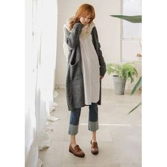 GOROKE - Open-Front Long Cardigan