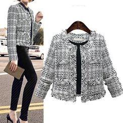 VIZZI - Tweed Cropped Jacket