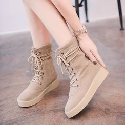 Simply Walk - Platform Lace Up Boots