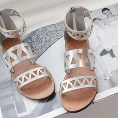DANI LOVE - Perforated Gladiator Sandals