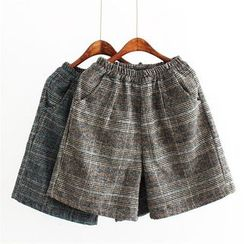 Moricode - Plaid Knit Shorts