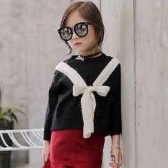 Candy Baby - Kids Bow Accent Sweater