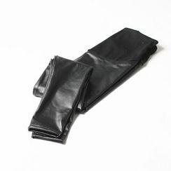 Emuna - Maternity Faux-Leather Fleece-Lined Leggings