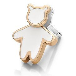 Kenny & co. - Kenny Bear White Enamel Earring (Each)