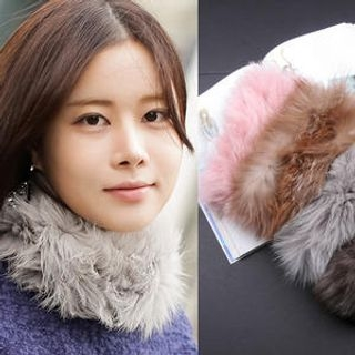 Sunbijou - Faux-Fur Circle Scarf