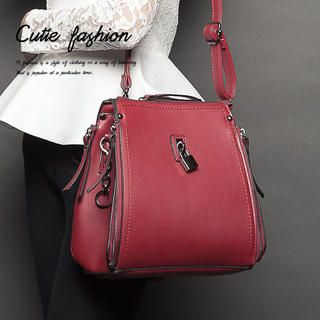 CUTIE FASHION - Lock-Accent Crossbody Bag