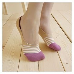 NANA Stockings - 條紋隱形船襪