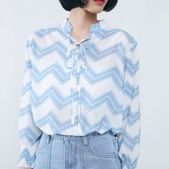 Sens Collection - Chevron Chiffon Blouse
