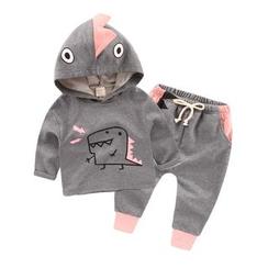 lalalove - Kids Set: Dinosaur Hoodie + Sweatpants