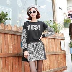 HStyle - Set: Houndstooth-Panel Top + Skirt