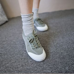 JUSTONE - Toe-Cap Canvas Sneakers