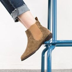 VIVIER - Banded-Detail Corduroy Ankle Boots