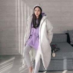 PPGIRL - Hooded Padded Long Coat