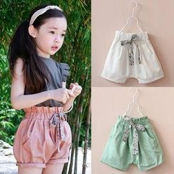 Seashells Kids - Kids Paper-Bag Waist Shorts