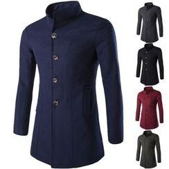 Constein - Stand Collar Woolen Coat