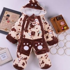 OnCloud - Baby Hooded Fleece One-Piece