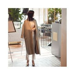 MASoeur - Open-Front Wool Blend Coat with Sash