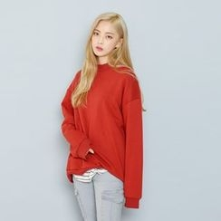 Envy Look - Mock-Neck Boxy Pullover