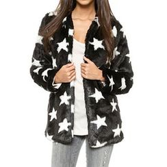 Obel - Star Print Furry Coat