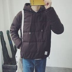 Jimboy - Pinstriped Hooded Padded Pullover