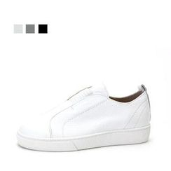 MODELSIS - Genuine Leather Platform Slip-Ons