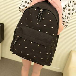 Miss Sweety - Studded Canvas Backpack