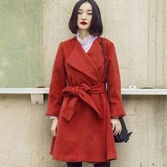 Dimosqisi - Long Silm-Fit Woolen Coat
