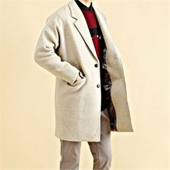 THE COVER - Drop-Shoulder Double-Breasted Coat