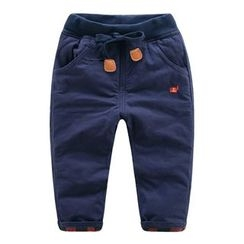 DEARIE - Kids Soldier Embroidered Drawstring Pants