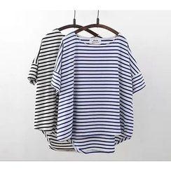 Ainvyi - Stripe Short-Sleeve T-Shirt