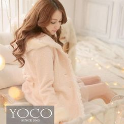 Tokyo Fashion - Faux Fur Trim Hooded Coat