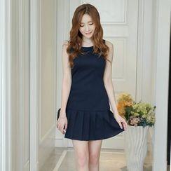 Bornite - Sleeveless Pleated Hem Dress