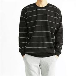 THE COVER - Stripe Brushed Fleece Lined Sweatshirt